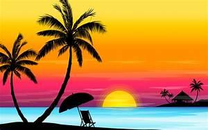 夕暮れのビーチ : 夕焼けのイラスト素材画像集【サンセット】 - NAVER まとめ