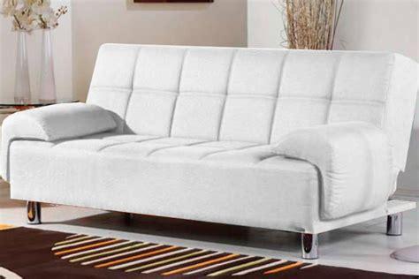 Sofa Divano Letto Reclinabile Salotto Ecopelle Bianco 3