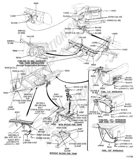 1988 Ford Bronco Fuel Line Diagram by Ford Truck Technical Drawings And Schematics Section E