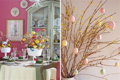Easter Home Decor Styling: Holiday Decor: Easter Home Decoration