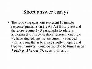 Short Answer Essays