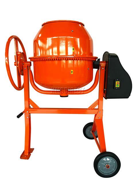 foxhunter 650w electric concrete cement mixer mortar plaster machine 140l drum ebay