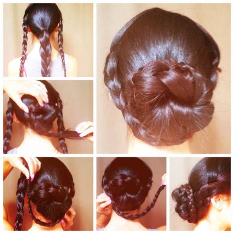 wonderful diy romantic heart braided hairstyle