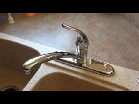 FAST leaky faucet fix!!! Moen 1225 cartridge replacement
