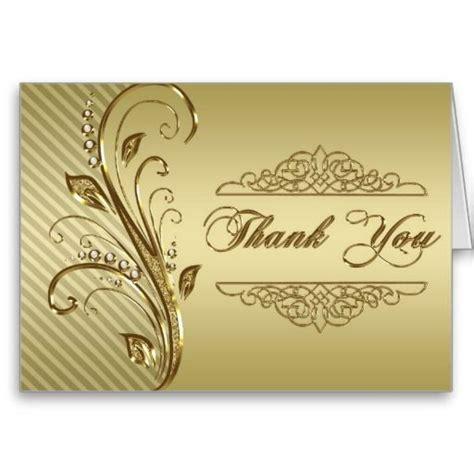 50th Golden Wedding Anniversary Thank You Card Zazzle