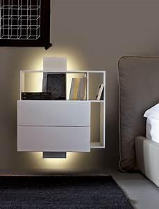 Table De Chevet Design : table de chevet suspendue pour am nager un coin lit a rien ~ Teatrodelosmanantiales.com Idées de Décoration