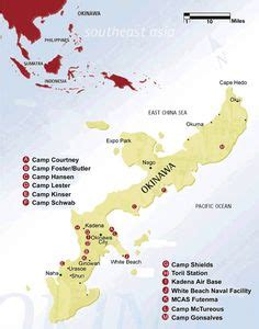 map  okinawa military bases   military base