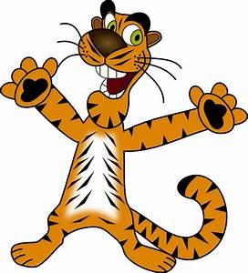 Happy Tiger Clip Art at Clker.com - vector clip art online ...