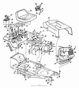 Mtd 134y450f129  1994  Parts Diagram For Hood Assembly