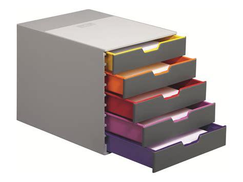 bloc de classement bureau durable varicolor 5 bloc de classement à tiroirs