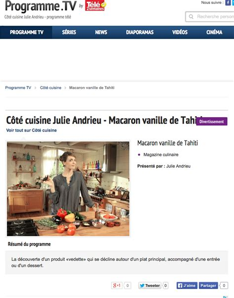 cuisine julie andrieu tahiti vanilla coté cuisine gt so julie andrieu and