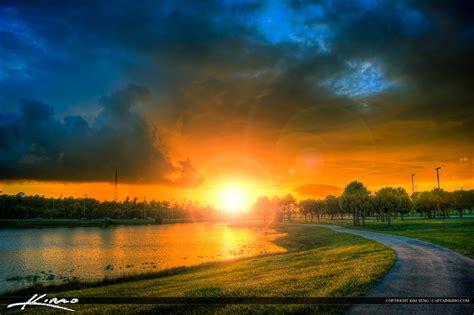 walking trail lake sunset okeeheelee park west palm beach
