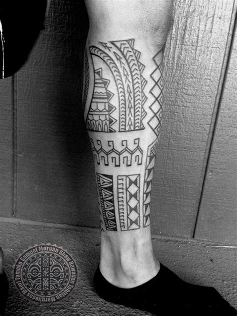 Filipino Tattoo On Leg