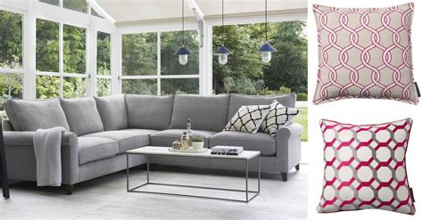 red and grey sofa grey and pink get the look darlings of chelsea interior