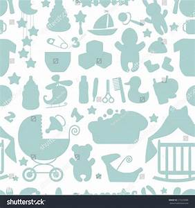 Sweet newborn seamless pattern baby boy stock vector