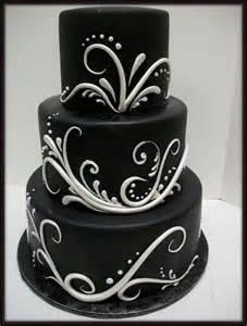 Black White and Silver Wedding Cake