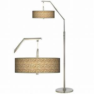 seagrass giclee shade arc floor lamp h5361 n0607 With floor lamp with seagrass shade