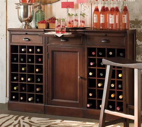 pottery barn wine cabinet build your own modular bar cabinets pottery barn