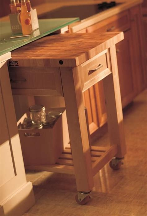 rolling island cart stored  countertop create