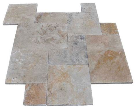 pattern country classic travertine pavers tumbled