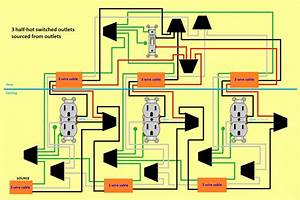 3 Half Hot Outlets    1 Switch - Electrical