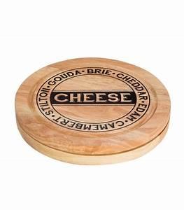 Plateau Rond En Bois : plateau fromage en bois rond et ses 4 couteaux fromages ~ Teatrodelosmanantiales.com Idées de Décoration