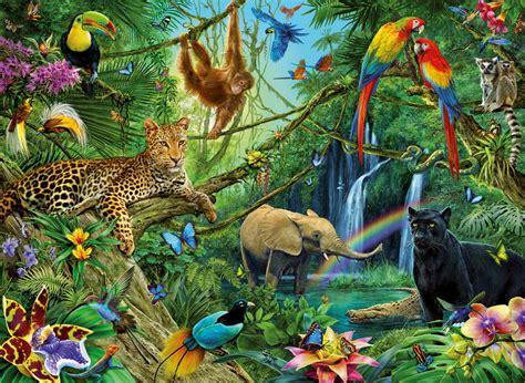 jigsaw puzzle animals   jungle  pc  ravensburger