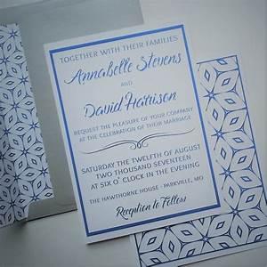Wedding invitation set blue geometric digital invite for Digital wedding invitations with rsvp