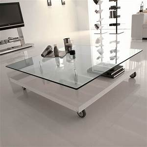 Living room beautiful glass top coffee table sets with for White coffee table with wheels