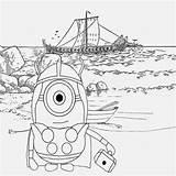 Minion Coloring Minions Drawing Cartoon Printable Sheets Banana Nordic Viking Adult Kid Activities Characters Costumes Sea Costume Happy Vikings Illustration sketch template