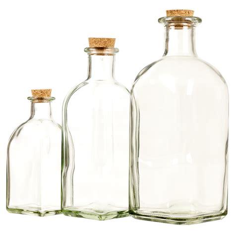 kitchen storage bottles 3 6 9 12 glass storage bottle jars vials cork stopper lid 3124