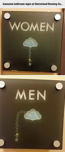 clever bathroom signs With cool bathroom signs