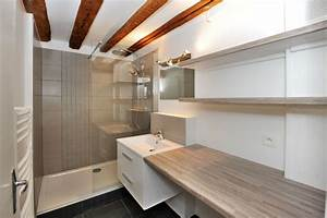 Installer Un Plan De Travail : installation d 39 un meuble vasque plan de travail et tag res vieux lille salles de bains ~ Melissatoandfro.com Idées de Décoration