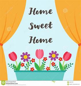 Sweet Home background stock vector. Image of graphic ...