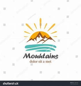 Logo Abstract Mountain Stock Vector Illustration 312881867 ...