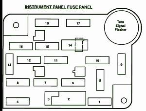 1993 Ford F150 5 8l Instrument Panel Fuse Box Diagram