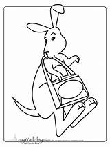 Kangaroo Coloring Word Printables Pages Wallaby Template Printable Searches Preschool Templates Worksheets Math Popular Activities Sketch Books sketch template