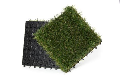 9 interlocking turf tiles per box rymar artificial grass