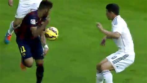 neymar brushes  james  rainbow flick marcacom