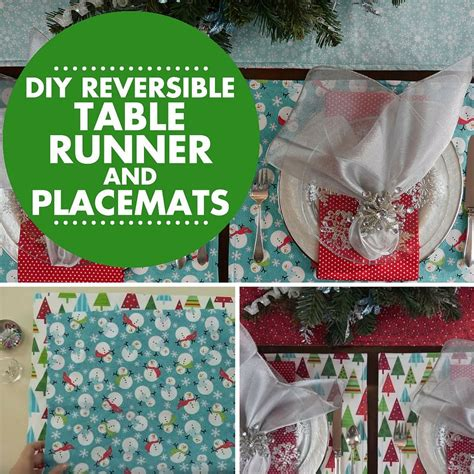 easy diy reversible table runner  placemats table