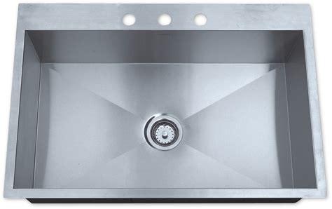 best stainless steel sink as325 33 quot x 22 quot x 10 quot 16g single bowl topmount legend