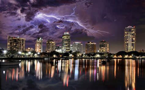 lexus motorcycle lightning over city hd