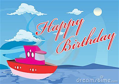 Happy Boat by Bateau De Joyeux Anniversaire Photo Stock Image 15635500