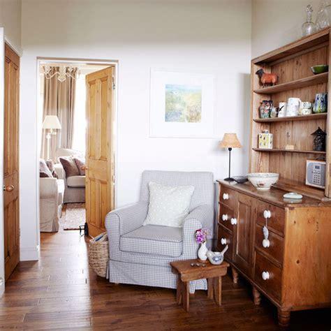 Warm hallway snug   Hallway decorating ideas   Ideal Home