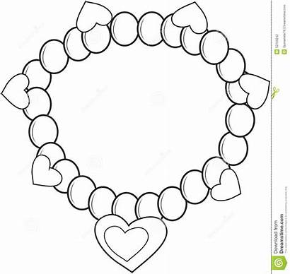 Coloring Bracelet Necklace Pages Einsteins Colouring Jewelry