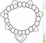 Coloring Bracelet Necklace Pages Colouring Einsteins Drawing Pearl Jewelry Printable Drawings sketch template