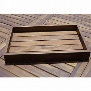Plateau De Bois : plateau de service en bois de teck huil bois dessus bois dessous ~ Teatrodelosmanantiales.com Idées de Décoration