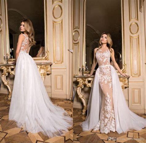 Vintage Champagne Lace Mermaid Wedding Dresses 2017