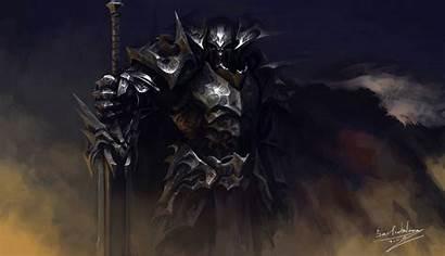 Knight Armor Fantasy Dark Background Warrior Animated
