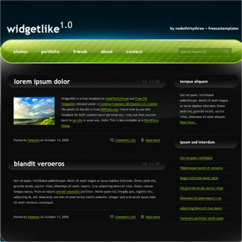 widget like free website templates in css html js format
